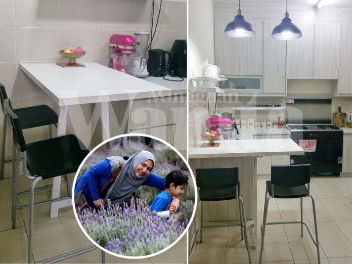 Buat Sendiri Kitchen Bar Di Rumah, Table Top Tu Kosnya Cuma RM59