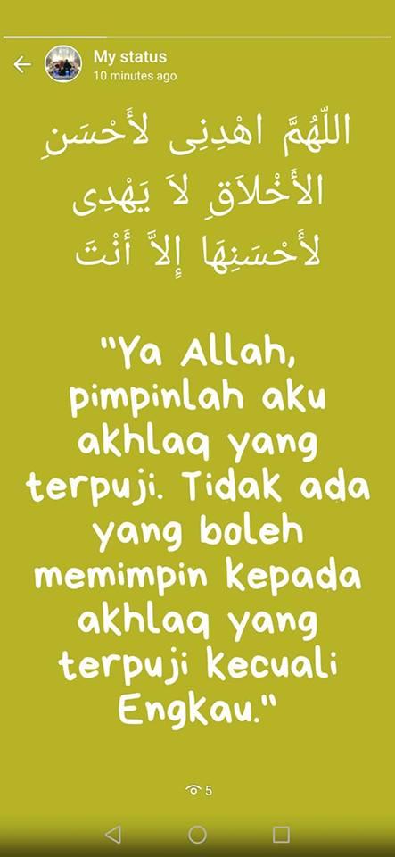 doa akhlak yang baik